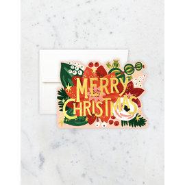 Idlewild Holiday Card - Poinsettia Die-cut