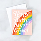 Idlewild Birthday Card - Big Rainbow