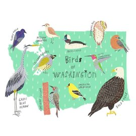 Yuko Miki Birds of Washington Print
