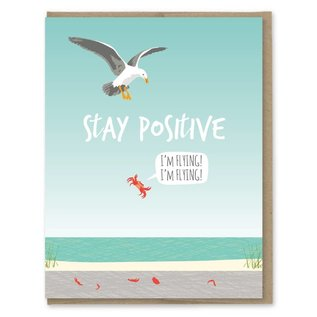 Modern Printed Matter Encouragement Card - Seagull & Crab