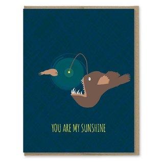 Modern Printed Matter Love Card - Sunshine Angler Fish