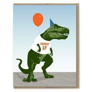Modern Printed Matter Birthday Card  - Ancient AF T-Rex
