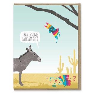 Modern Printed Matter Birthday Card - Donkey Pinata