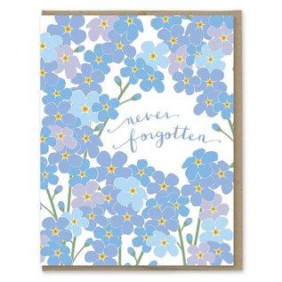 Modern Printed Matter Sympathy Card - Never Forgotten