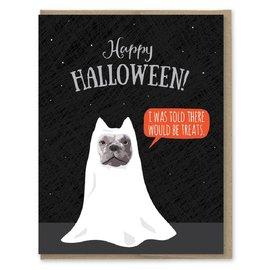 Modern Printed Matter Halloween Card - Ghost Dog Treats