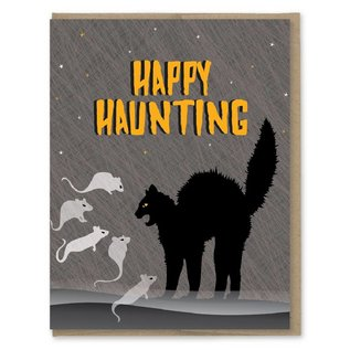 Modern Printed Matter Halloween Card - Happy Haunting