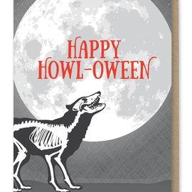 Modern Printed Matter Halloween Card - Howl-oween