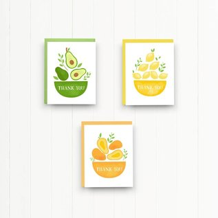 Nicole Marie Paperie Fruit Thank You Notes
