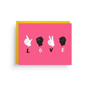 Nicole Marie Paperie Love Card - Sign Language