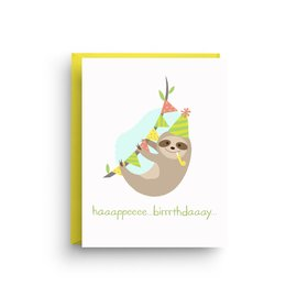 Nicole Marie Paperie Birthday Card - Sloth