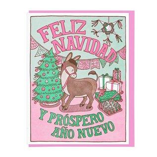 Lucky Horse Press Holiday Card - Feliz Navidad Donkey