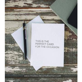 West Park Creative SALE Card - The Perfect Card