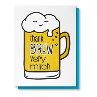 Kiss and Punch SALE Card - Thank Brew