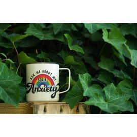 Enamel Co. Social Anxiety Enamel Mug