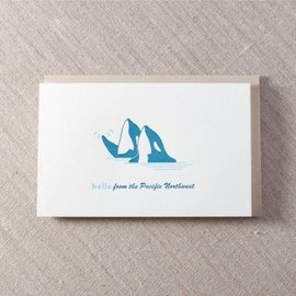 Pike St. Press Greeting Card - Hello Orcas