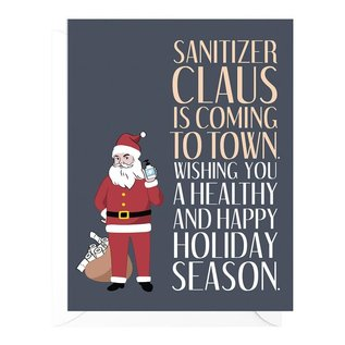 Peopleisms Holiday Card - Sanitizer Claus