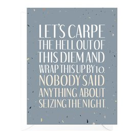 Peopleisms Birthday Card - Carpe Diem