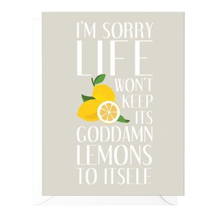 Peopleisms Encouragement Card - Lemons to Themselves