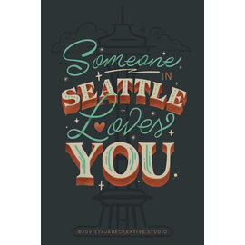 Jovietajane Someone in Seattle Loves You Postcard