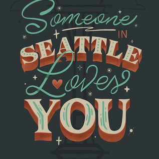 Jovietajane Someone in Seattle Loves You Postcard