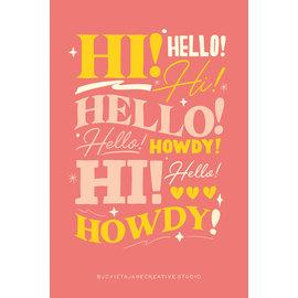 Jovietajane Hi! Hello! Howdy! Postcard