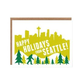 Orange Twist Seattle Sasquatch Holiday Boxed Notes