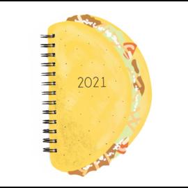 Waste Not Paper SALE Taco Die-cut 2021 Planner
