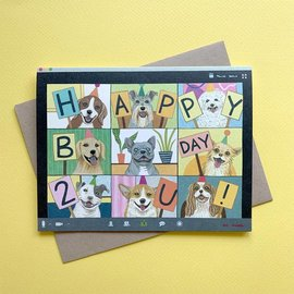 Yeppie Paper Birthday Card - Zoom Dogs