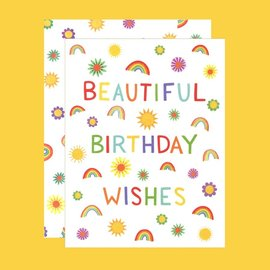 Yeppie Paper Birthday Card - Rainbow Wishes
