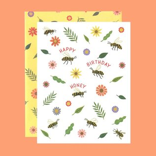 Yeppie Paper Birthday Card - Honey Bee Birthday
