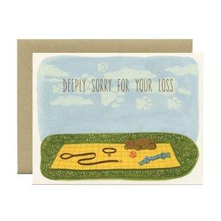 Yeppie Paper Sympathy Card - Dog Sympathy