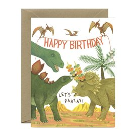 Yeppie Paper Birthday Card - Dinosaur Party