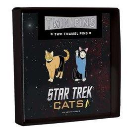 Chronicle Books Star Trek Cats Enamel Pin Set