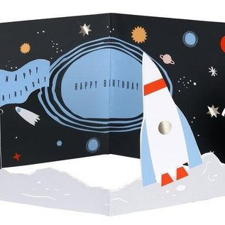 Meri Meri Birthday Card - Space Scene