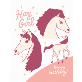 The Good Twin Birthday Card - Hay Girl