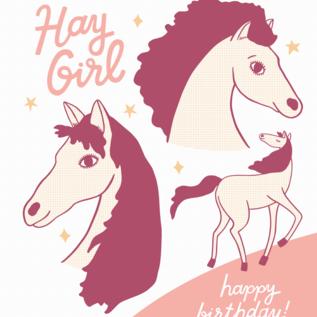 The Good Twin Birthday Card - Hay Girl