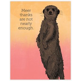 Waterknot Thank You Card - Meerkat Thanks