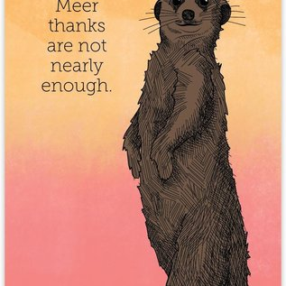 Waterknot Thank You Card - Meerkat Thanks