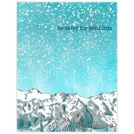 Waterknot Sympathy Card - Sympathy Mountains
