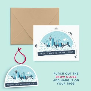Pier Six Press Holiday Card - Seattle Christmas Ornament