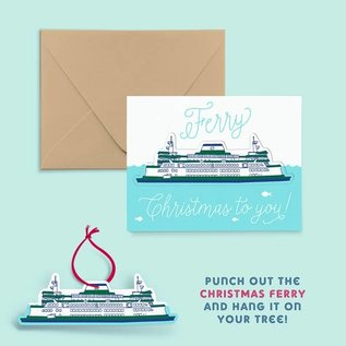 Pier Six Press Holiday Card - Ferry Christmas Ornament
