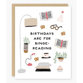 Party of One Birthday Card - Binge Reading