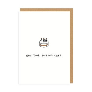 Ohh Deer Birthday Card - Eat Your Fucking Cake