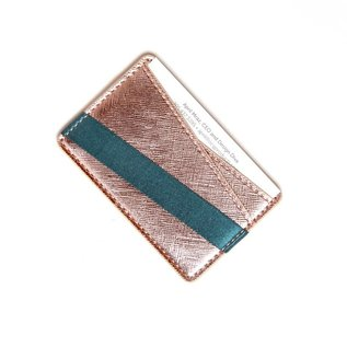 Tech Candy SALE Phone Back Wallet Rose Gold/Teal