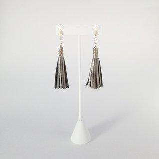 Jasmine Gil Simple Leather Earrings CONSIGNMENT