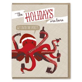 Modern Printed Matter Holiday Card - Get Into The Spirits