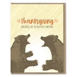 Modern Printed Matter Holiday Card - Thanksgiving Relatives