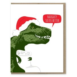 Modern Printed Matter Holiday Card - Naughty Tastes Better (Trex)