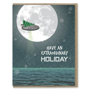 Modern Printed Matter Holiday Card - Extraordinary Holiday UFO