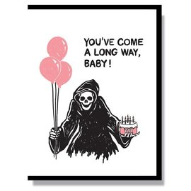 Smitten Kitten Birthday Card - Grim Reaper